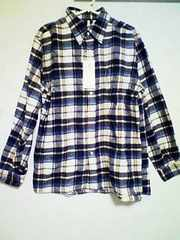 Aー572☆新品☆チェック柄ネルシャツ ブルー M