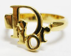美品Diorディオール ロゴモチーフ リング 指輪 12号