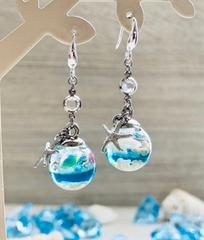 海シリーズ 天然沖縄産 貝殻と珊瑚のピアス《silver925》