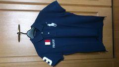激安70%オフラルフローレン、ビックポロシャツ(新品タグ、紺、フランス国旗、XL)