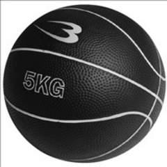 ★5kg★ トレーニングボール 筋トレ ゴム製 ブラック