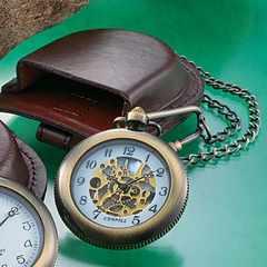 【1803】高級革製ベルトケース付き▼懐中時計アンティーク