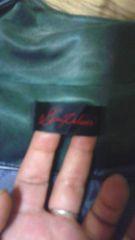 新品メタリックグリーンジャケット