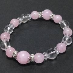ピンク水晶&水晶激安出品!レディースブレス
