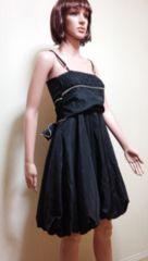新同…腰リボン&バイカラーのバルーンドレス☆3点で即落☆