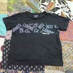 COMME CA ISM/コムサイズムキッズ ブラック ロゴ Tシャツ 100�p