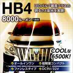 送料無料 8000LM LEDフォグランプ{HB4}後方サイズ31mm小型ボディ6500K