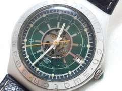 5159/smatchスウォッチ★スケルトン仕様メカ見えメンズ腕時計軽量アルミニウム
