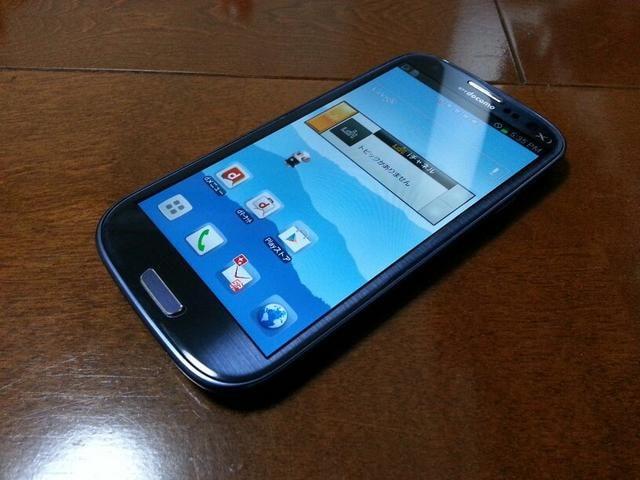 即落/即発!!美中古品 SC-06D Galaxy S3 ブルー  < 家電/AVの
