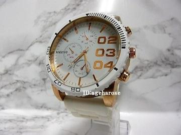 新品  腕時計 ホワイト クロノグラフ風/ディーゼル好き