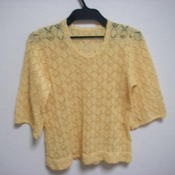 編みニット サマー 七分袖くらい フリーくらい