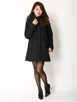 ◆LIP SERVICE/リップサービスエレガント★ボリューム襟*中綿コートブラック