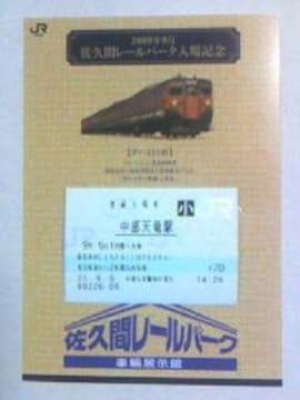佐久間レールパーク入場記念09・9小人券