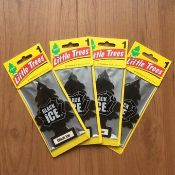【送料無料】リトルツリー 芳香剤 お得4枚セット/ブラックアイス