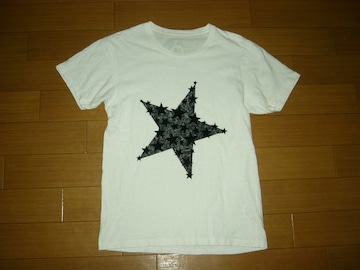 M エム ★ スターフェルト Tシャツ S 白 カットソー 星 TMT