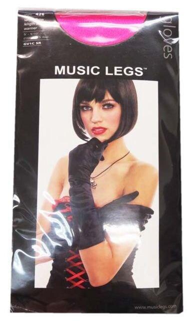 A289)LA発MusicLegs肘丈サテングローブピンクひじ丈ダンス衣装ダンサー発表会 < 女性ファッションの