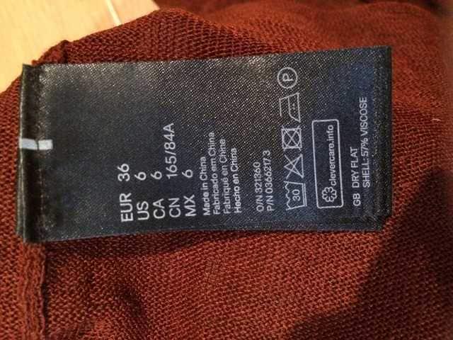 エイチアンドエム バーガンディ サマーニット タンクトップ H&M < ブランドの