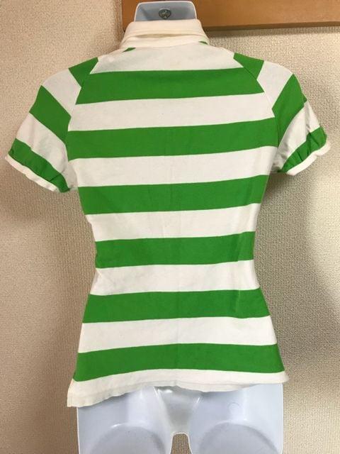 ★PUMA 白×グリーンボーダー スキッパーシャツ  M★ < ブランドの