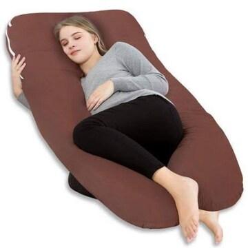ブラウン 140x80x20cm Meiz 抱き枕 抱かれ枕 U型 授乳クッション