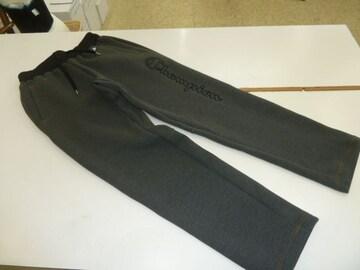 送料込(M黒灰)チャンピオン★ロングパンツC3JS216ジャージ軽量裾ゴム保温伸縮