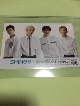SHINee SMTOWN VISA PREPAID 購入特典 ポストカード。