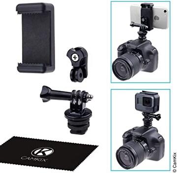お持ちの電話機やGoPro HeroをDSLRカメラのフラッシュマウント