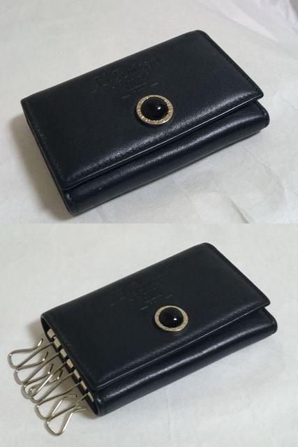 正規 ブルガリBVLGARI B-zeroロゴ×ブラックストーン装飾 6連ロゴ文字キーケース < ブランドの