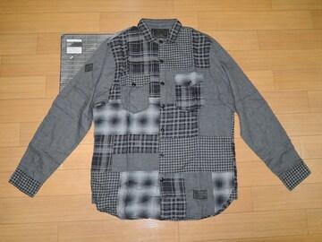 新品NEIGHBORHOODネイバーフッドBIパッチワークシャツL黒