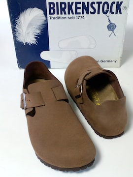美品ビルケンシュトック紳士靴ロンドンぺたんこビジネスシューズ通勤通学27センチ