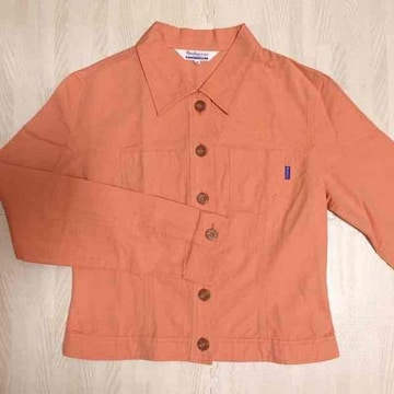 【美品】ダンガリーシャツ/M/バーバリー/サーモンオレンジ