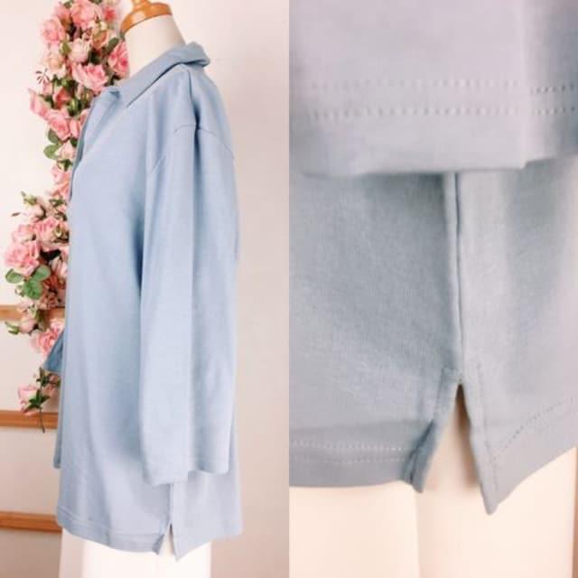 GH243*4L 大きいサイズ UV対加工 綿100% カットソー < 女性ファッションの