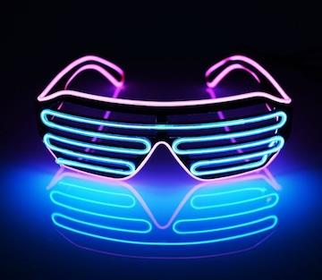光る LED メガネ マルチカラー