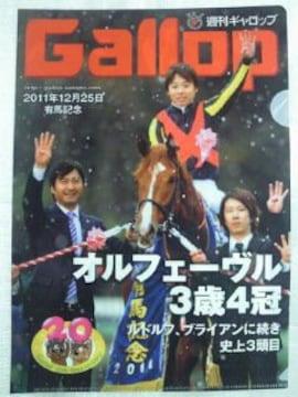 競馬 JRA 週刊ギャロップ Gallop ロッテ 有馬記念 優勝馬 ファイル 5枚 セット