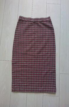 値下げ ZARA チェック柄タイトスカート サイズXS