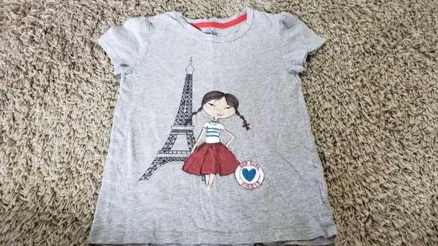 ★GAPKids★女の子★パリ★グレーTシャツ★サイズ6-7★  < ブランドの