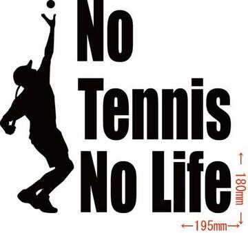カッティングステッカー No Tennis No Life (テニス)・3