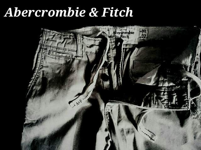 【Abercrombie&Fitch】アバクロ 最高峰 Vintage Destroy チノパンツ 32 < ブランドの