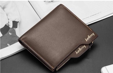 財布 二つ折り財布 お札入れ カード入れ 小銭入れ  ブラウン