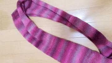 新品 毛糸編みスヌード 可愛いピンク系