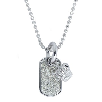 新品◆JUSTIN DAVIS◆DIAMOND DOG TAG NECKLACE◆40cm◆10万