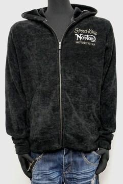 新品NortonポリグレーターJQ裏シャギーパーカー黒L203N1302
