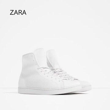 ☆ZARA/ザラ ホワイト スニーカー/メンズ/28cm/白☆新品