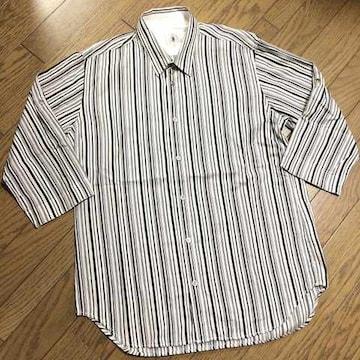 美品TAKEO KIKUCHI ストライプシャツ タケオキクチ