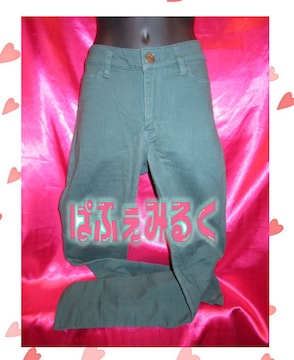 KT83☆イイ感じのグリーン深☆ローリーのレギンスパンツ