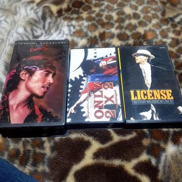 長渕剛 VHS ビデオ 3本セット