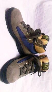 HAWKINS〓レザーハイカットスニーカーブーツ〓登山靴トレッキングシューズ〓21cmキッズも