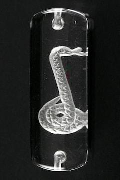 ☆蛇年の水晶十二支プレート☆巳年12×25mm