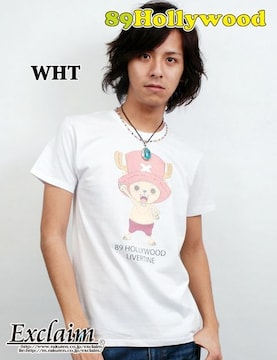 89HOLLYWOOD×ONE PIECEコラボチョッパーTシャツ/白S