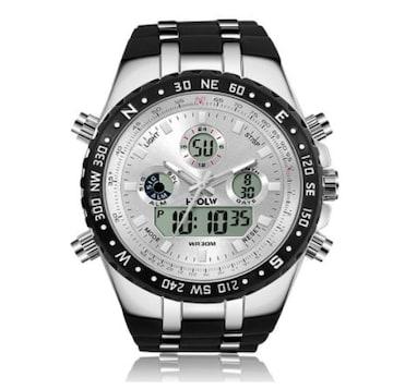 メンズ腕時計 多機能スポーツウォッチ白