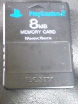 《PS2用メモリーカード》【SONY純正ブラック】�@